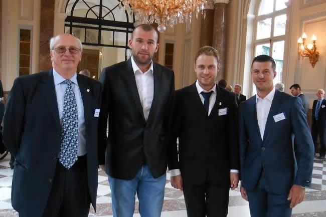 Van Horebeek, Desalle et De Dycker félicités par le Roi et la Reine
