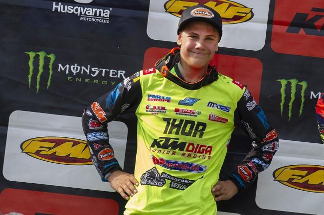 Emil Weckman prolonge son contrat avec le team KTM Diga Junior Racing