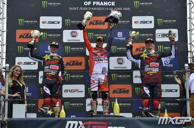 GP de France – Les réactions du podium MX2