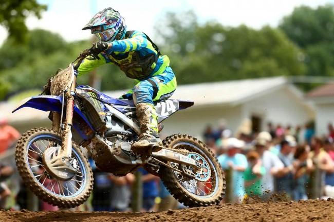 Dylan Ferrandis sur le podium de Muddy Creek