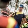 Steve Ramon au départ des 12 Heures de la Chinelle au guidon d'une Husqvarna