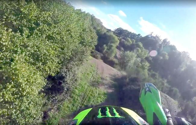 Vidéo : Julien Lieber à l'entraînement sur sa piste personnelle