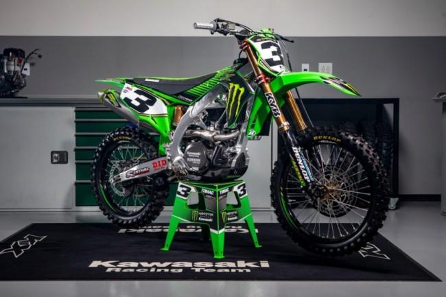 Photos : la Kawasaki KX450 d'Eli Tomac