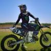 Justin Barcia au guidon d'une Yamaha 250 2-temps à Bam Land