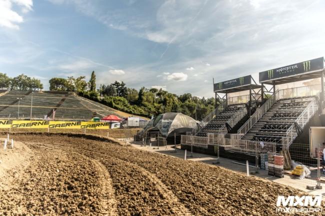 Photos : les pilotes MXGP se sont installés à Imola