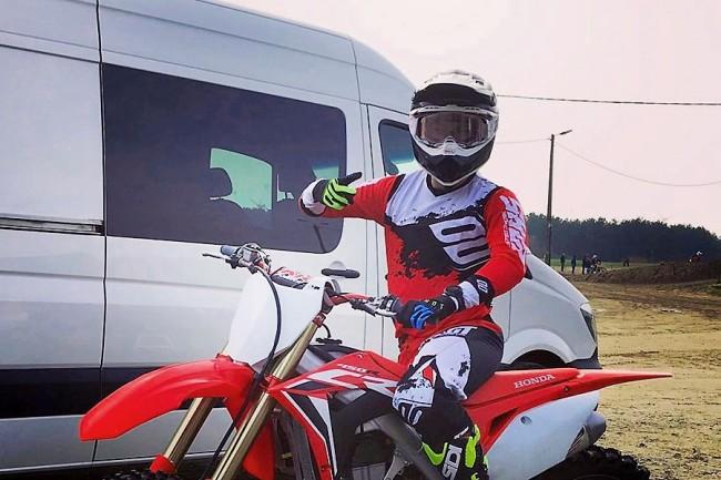 Une première image de Julien Lieber sur la Honda JM Racing