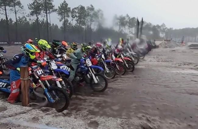 Vidéo CFS : Tom Hurtaud remporte la course Amateurs sous le déluge à Magescq