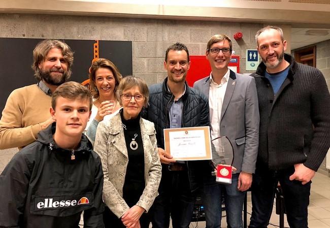 Jérémie Fraselle reçoit le prix du mérite sportif de la commune de Gesves