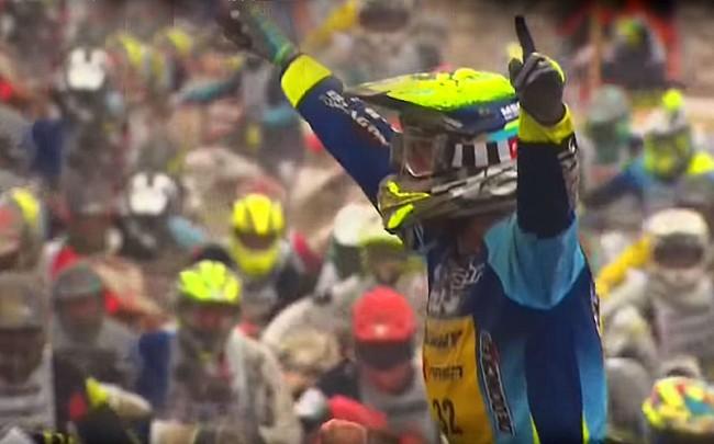 Vidéo : Milko Potisek franchit en vainqueur la ligne d'arrivée du 45ème Touquet