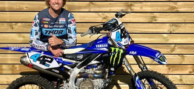 Adrien Van Beveren met en jeu une Yamaha YZ450F au profit de la Croix Rouge