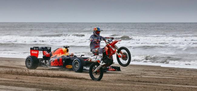 Photos : Jeffrey Herlings et Max Verstappen sur la plage de Scheveningen
