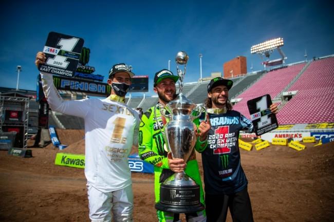Photos : la finale du championnat Supercross à Salt Lake City en images