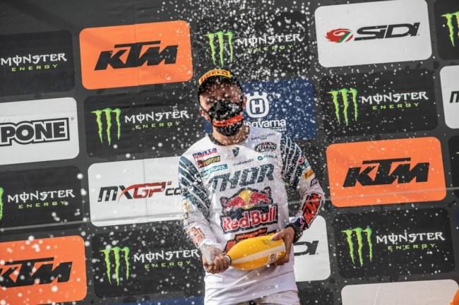 Antonio Cairoli a célébré à Kegums son 90ème succès en GP