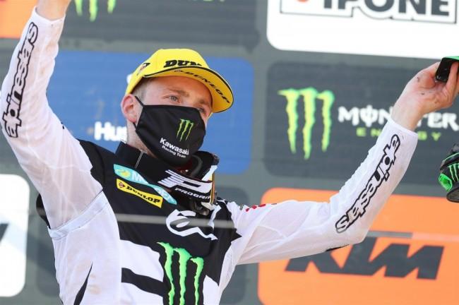 Romain Febvre : premier GP avec Kawasaki, premier podium !