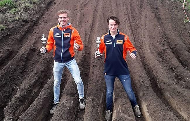 Aubry Lillo et Kaiya Brouwer vainqueurs d'un cross-country en Hollande