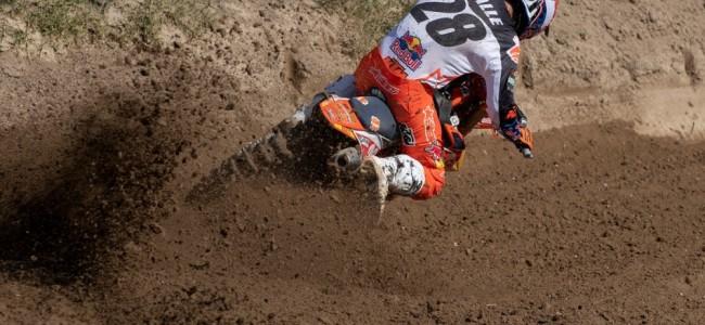 Tom Vialle devance Jago Geerts dans le sable de Lommel