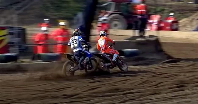 Vidéo MXGP : la chute de Jago Geerts dans la roue de Vialle à Mantova