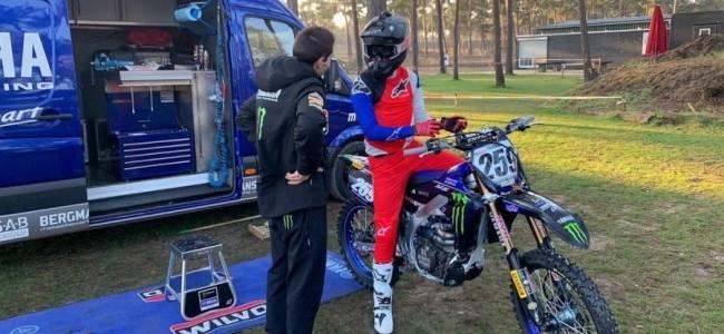 Glenn Coldenhoff a déjà repris l'entraînement à moto
