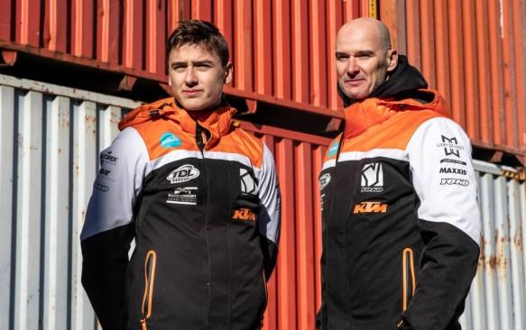 Liam Everts au départ des deux premières épreuves du championnat suédois