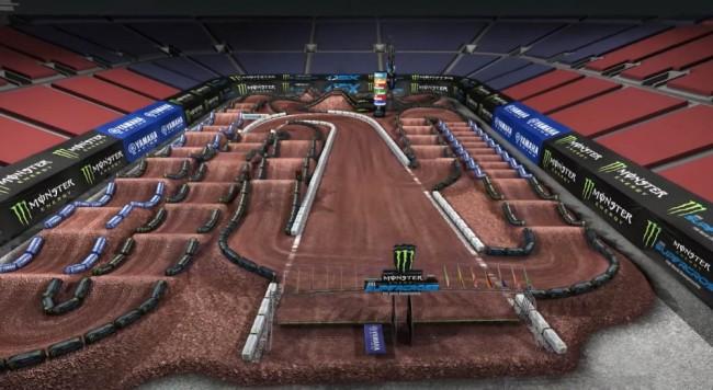 Supercross US : la piste de Salt Lake City 1