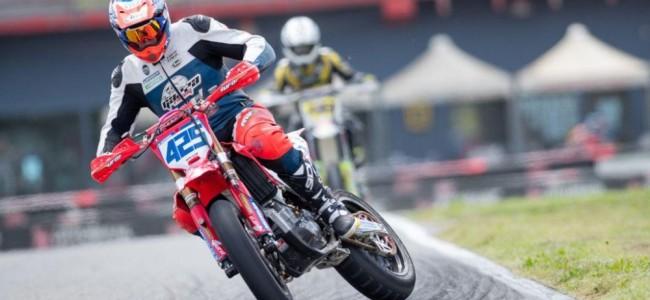 Premier podium sur le championnat italien de Supermoto pour François Corman