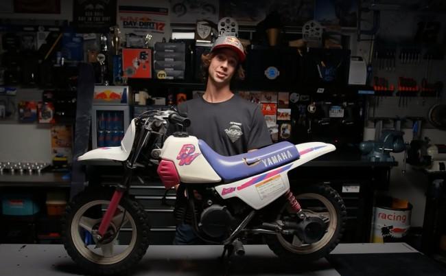 Une Yamaha PW50 de 1993 remise à neuf avec Aaron Colton