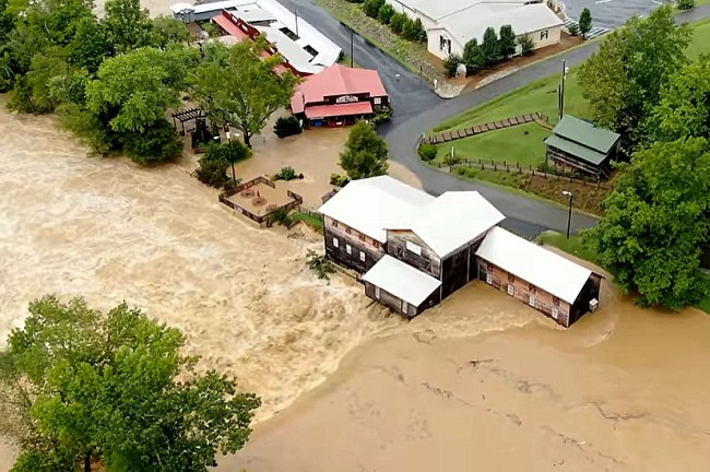 Le ranch Loretta Lynn touché par les inondations