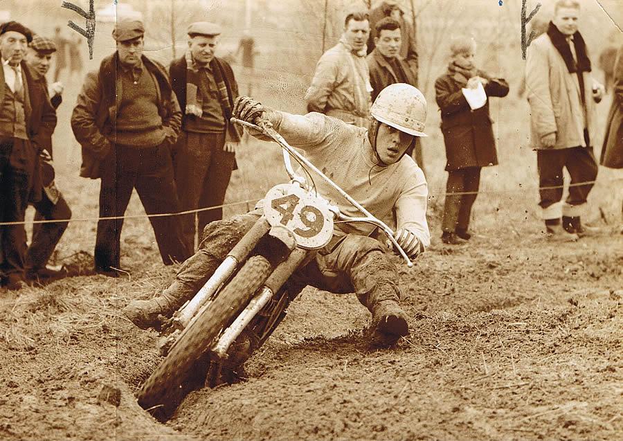Joël Robert en action lors du GP de Belgique en 1964, l'année de son premier titre mondial.