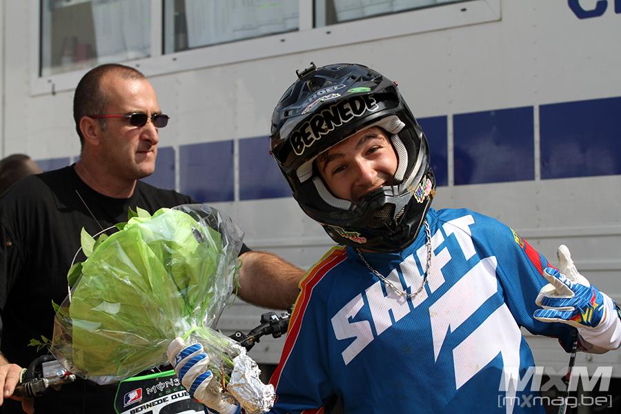 Après une longue convalescence, Quentin Bernede était de retour à Willancourt. Il remporte la première manche et monte sur le podium du classement général. Retour réussi !