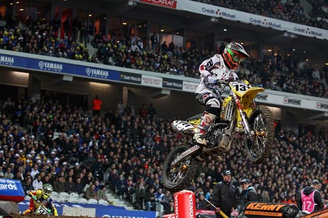 Nicolas Aubin a apprécié le circuit tracé dans l'immense stade de Lille